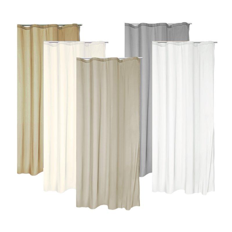 voile dekoschal kr uselband gardine uni vorhang transparent ca 140x2 11 95. Black Bedroom Furniture Sets. Home Design Ideas