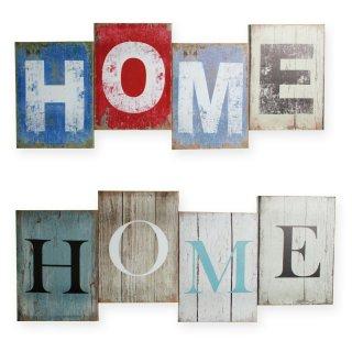 bild schrift home leinwand shabby retro ca 26x60 cm. Black Bedroom Furniture Sets. Home Design Ideas