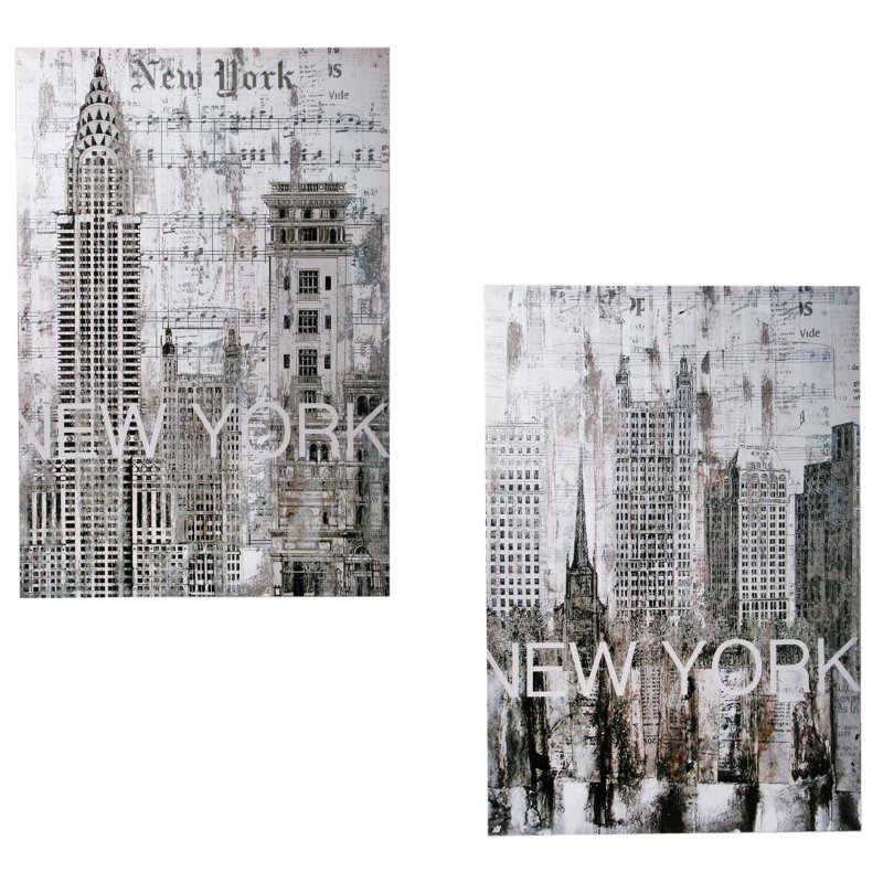 leinwandbild new york city leinwand bild ca 60x80 cm leinen auf holz 19 94. Black Bedroom Furniture Sets. Home Design Ideas