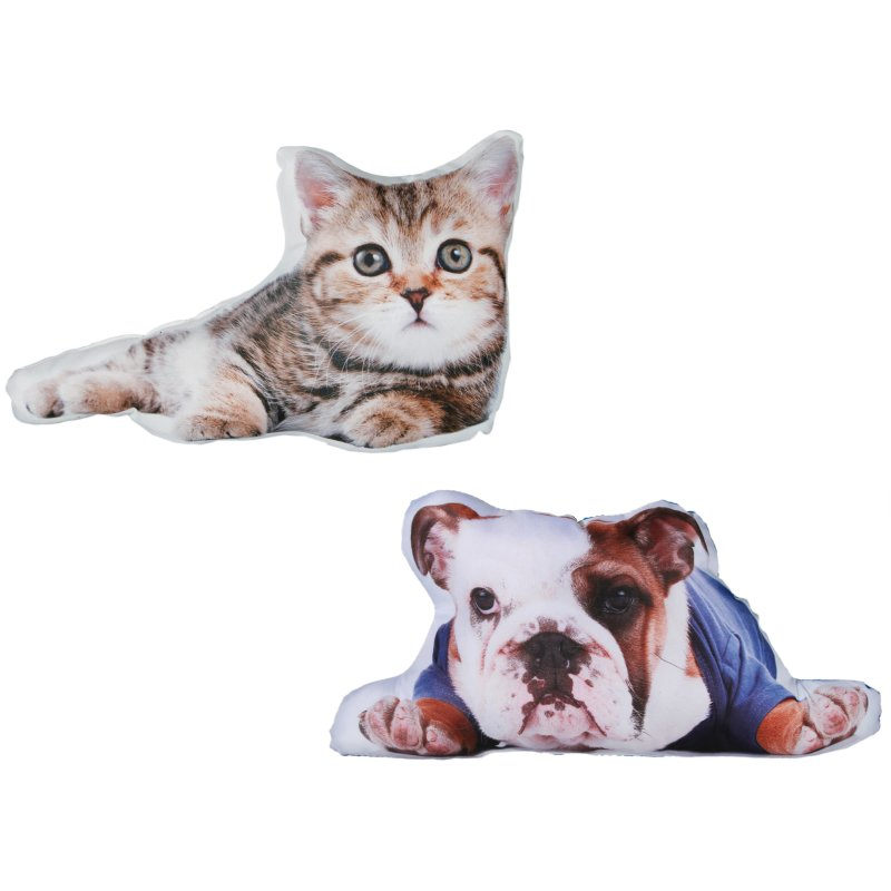 dekokissen hund oder katze fotodruck ca 40x25 cm zierkissen sofakiss 11 95. Black Bedroom Furniture Sets. Home Design Ideas
