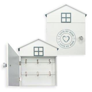 schl sselkasten holz schl sselablage regal schrank landhaus ca 24 x 29 cm wei 1722 haus und. Black Bedroom Furniture Sets. Home Design Ideas