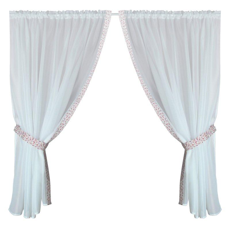 gardinenset 4 tlg romantik 2x cm fenstergardine mit blumen 16 95. Black Bedroom Furniture Sets. Home Design Ideas