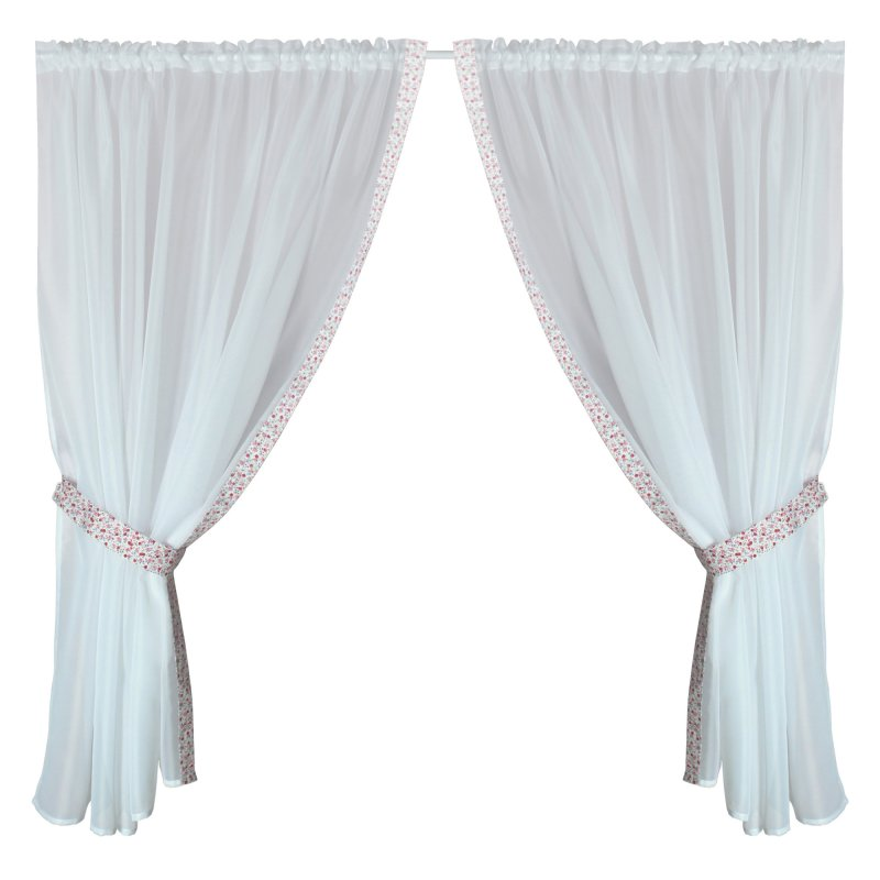 gardinenset 4 tlg romantik 2x cm fenstergardine. Black Bedroom Furniture Sets. Home Design Ideas