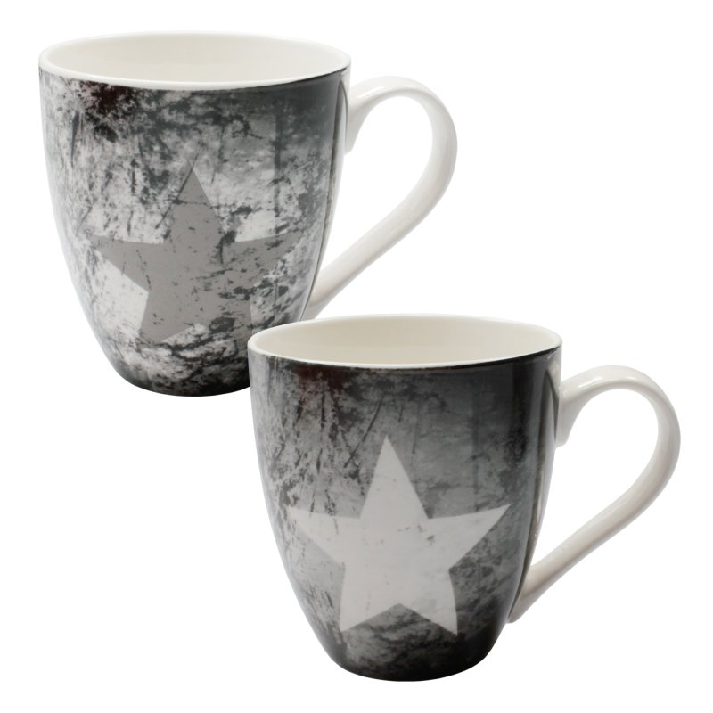 gro e henkel tasse 500ml mit stern im vintage look 1796 haus de 5 95. Black Bedroom Furniture Sets. Home Design Ideas