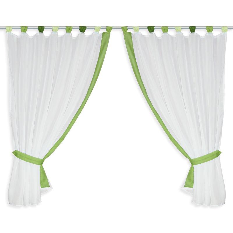 fenstergardine vorhang set 4 tlg voile 2x cm schlaufen und 14 95. Black Bedroom Furniture Sets. Home Design Ideas