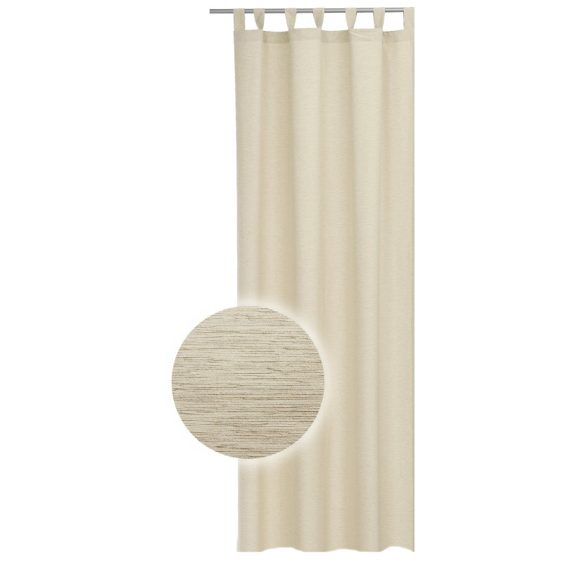 bergardine 140x240 cm struktur meliert schlaufen gardine sand beige 24 95. Black Bedroom Furniture Sets. Home Design Ideas