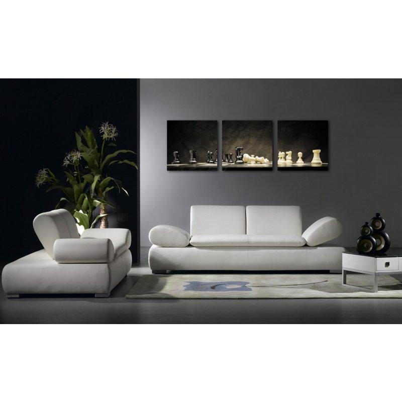 wandbild 3er set schach spiel fotodruck bild auf holzfaserplatte je 3 24 90. Black Bedroom Furniture Sets. Home Design Ideas