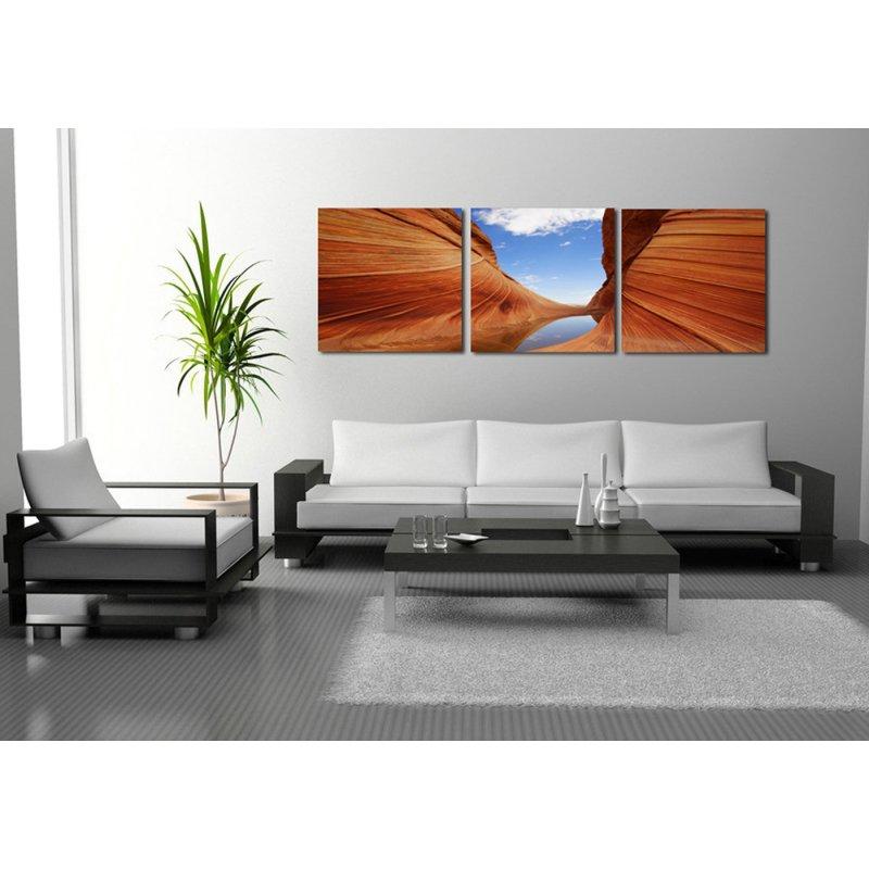 wandbild 3er set canyon fotografie kunstdruck bilder auf holzfasertaf 39 90. Black Bedroom Furniture Sets. Home Design Ideas
