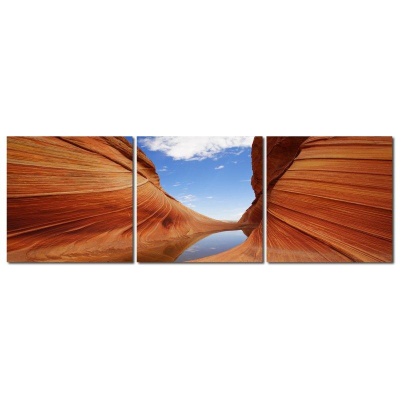 wandbild 3er set fotodruck canyon kunstdruckbilder auf holzfasertafel 39 90. Black Bedroom Furniture Sets. Home Design Ideas